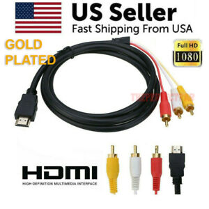 HDMI-Male-To-3-RCA-Video-Audio-AV-Component-Converter-Adapter-Cable-HDTV-1080