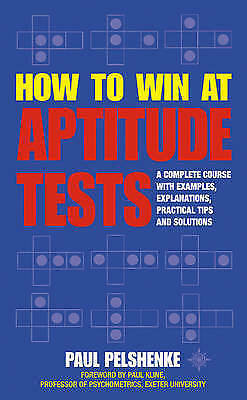 1 of 1 - How to Win at Aptitude Tests, Pelshenke, Paul, Very Good Book