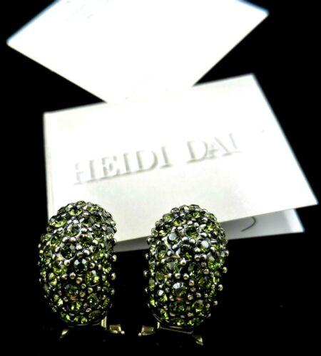 """Heidi Daus """"Hugs From Heidi"""" Peridot Earrings In B"""