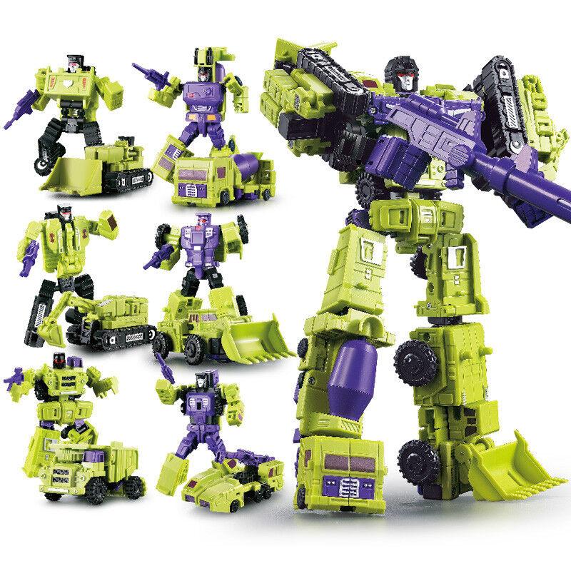 Set of 6pcs Transformers Engineering Devastator Robots Action Figure 10  Toy