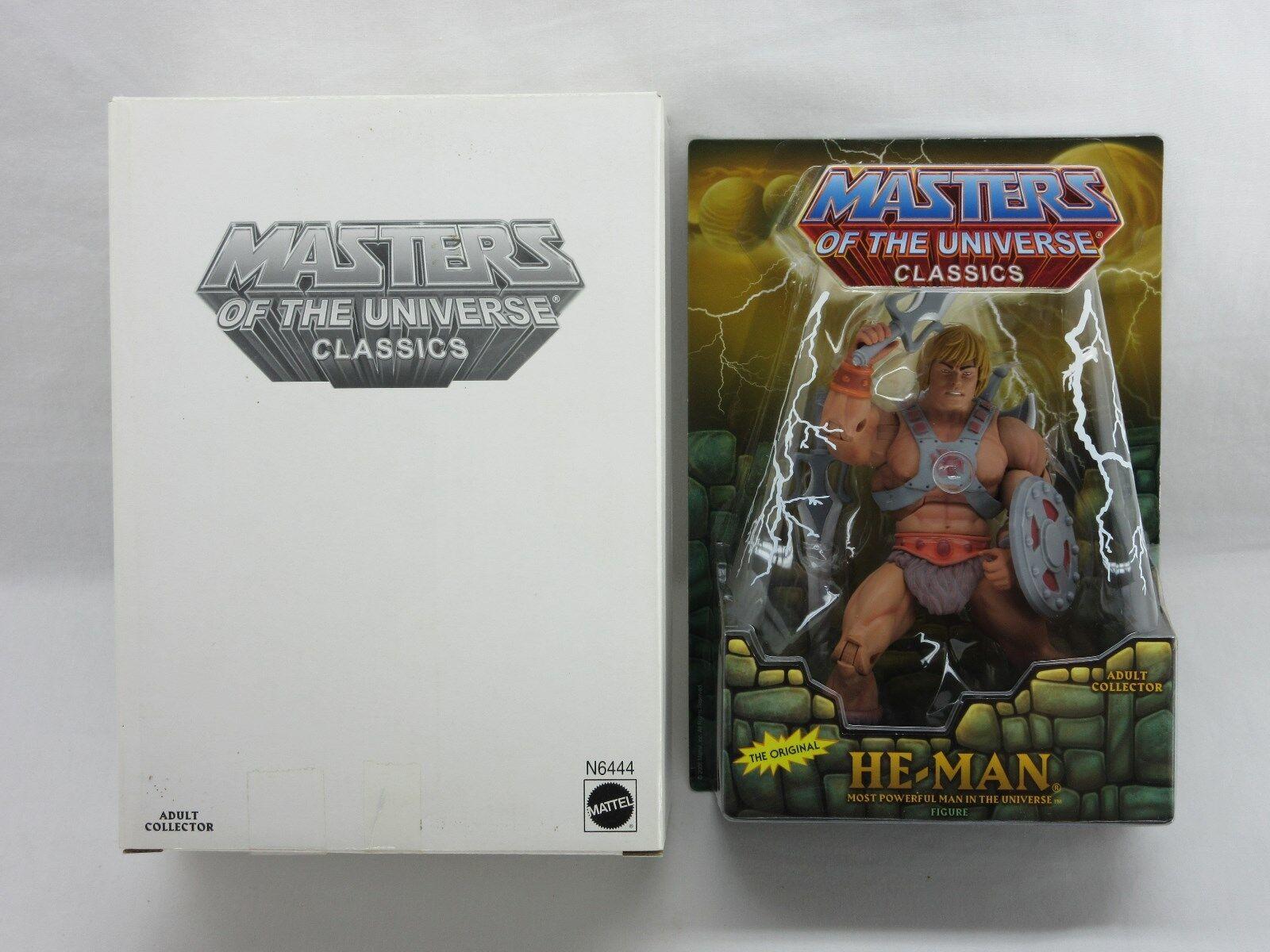 Masters of the Universe, MOTUC, He-man Masters of Universe Classics, Scellé, Comme neuf sur scellé Carte, Comme neuf on Card