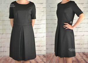 Damen Arbeitskleidung Dunkelgrau Neu Etikettiert Next Kleid 157 EZPqFfwT