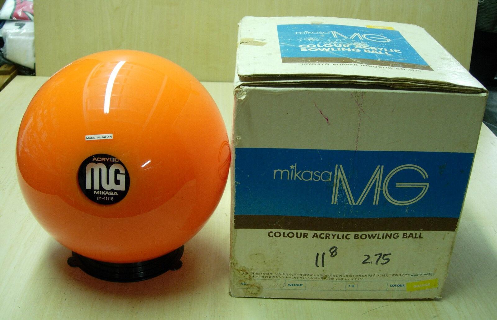 = 11oz NOS NIB Mikasa MG Colour Acrylic orange Bowling Ball