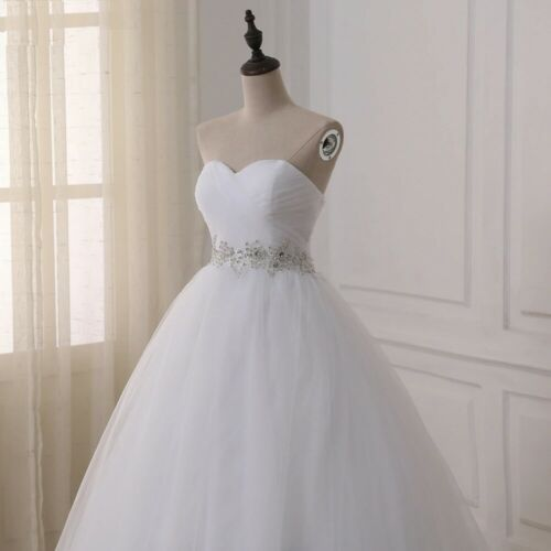 Lace Up Wedding Gown For Ladies Sleeveless Bridal Dress Sequined Long Ball Gowns