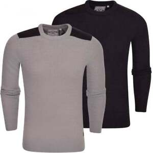 Mens-Brave-Soul-Crew-Neck-Cable-Knitted-Fashion-Jumper-Sweater-Pullover-Top
