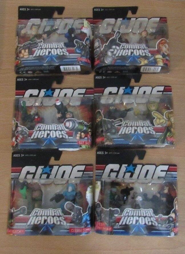 Gi Joe Combate héroes Lote de seis dos paquetes de nuevo en Caja Sellada Nuevo en Caja Envío Gratis