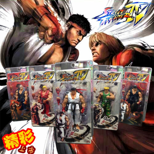 "7/"" N Street Fighter Player Select Game Survival  Ken Ryu Guile Action Figure"