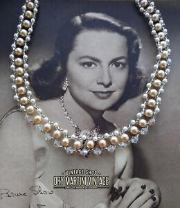 VINTAGE-1950s-FAUX-PEARL-AURORA-BOREALIS-CHOKER-NECKLACE-BRIDAL-PARTY-GIFT