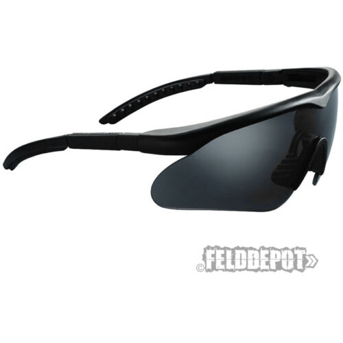 SwissEye® Raptor Black Schwarz Sonnenbrille ballistische Schutzbrille