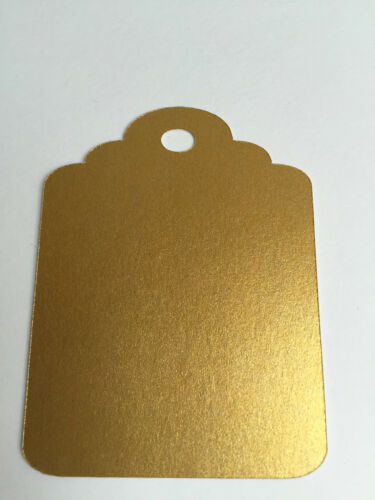 Gift tag embellishments metallic pearl card 4 sizes 6 colours wedding favours