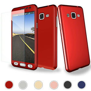 Hybrid 360° Full Protector Case +Tempered Glass For Samsung Galaxy ... 842e5793c577