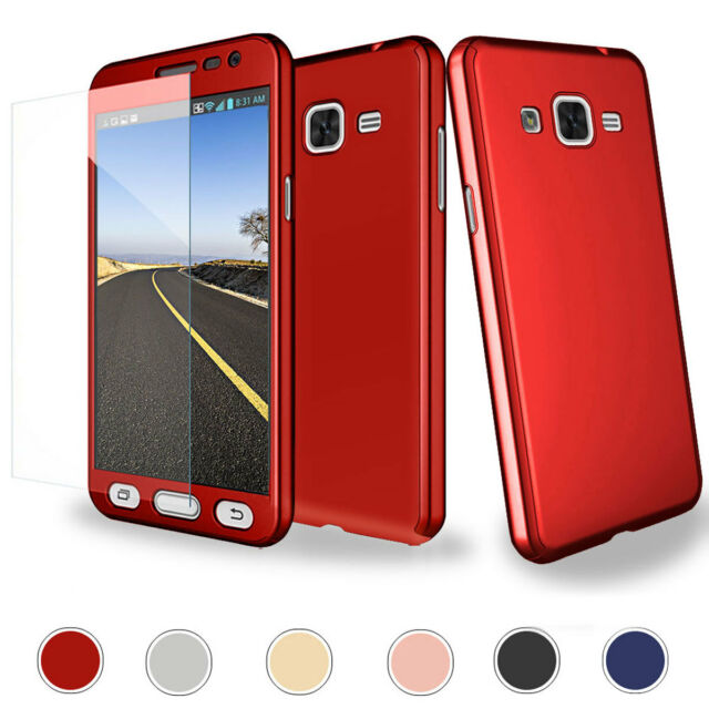 low priced 6b87d e69df Hybrid 360° Full Protector Case +Tempered Glass For Samsung Galaxy J7 2015  2016