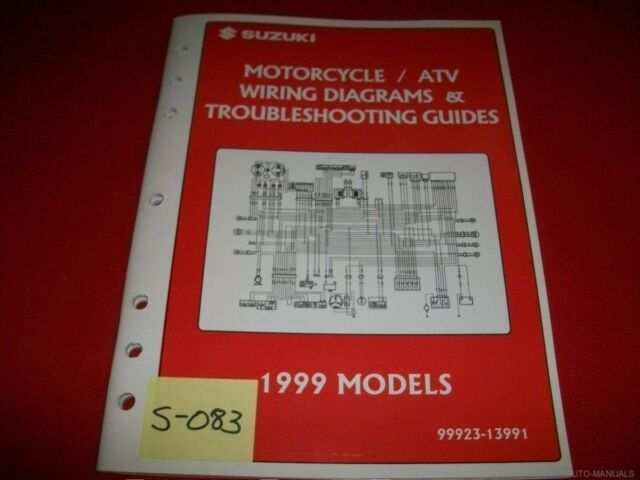 Suzuki Motorcycle  U0026 Atv Wiring Diagram  U0026 T  S Manual 1999