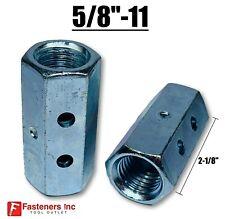 58 11 X W1316 X L 2 18 Hex Threaded Rod Coupling Nut Zinc W Witness Holes