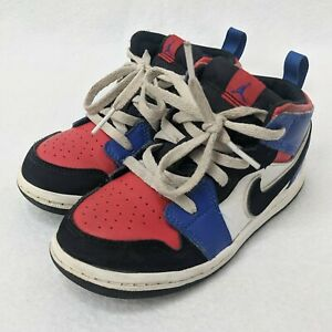 Details about Nike Air Jordan 1 Basketball Shoes Size Youth 9c Red White Blue 640735-124