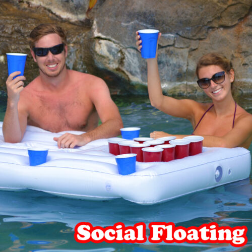 Pools Rivers Lakes Inflatable Beer Pong Table GoPong Party Barge