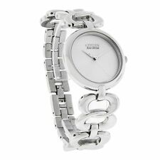 New Citizen Eco-Drive EM0220-53A Stainless Steel Women's Bracelet Watch MSRP$295