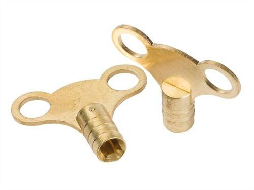 2 x laiton massif radiateur purge outil clé de plomberie outil clés le moins cher sur  *