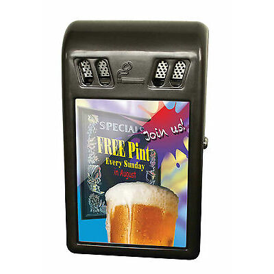 Wall Mounted Advertising Cigarette Bin  Ashbin Ashtray Outdoor Bar Pub A4 Poster