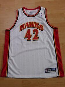 Atlanta Hawks Theo Ratliff #42 Signé Reebok Authentic Jersey Nba Basketball-afficher Le Titre D'origine Blanc De Jade