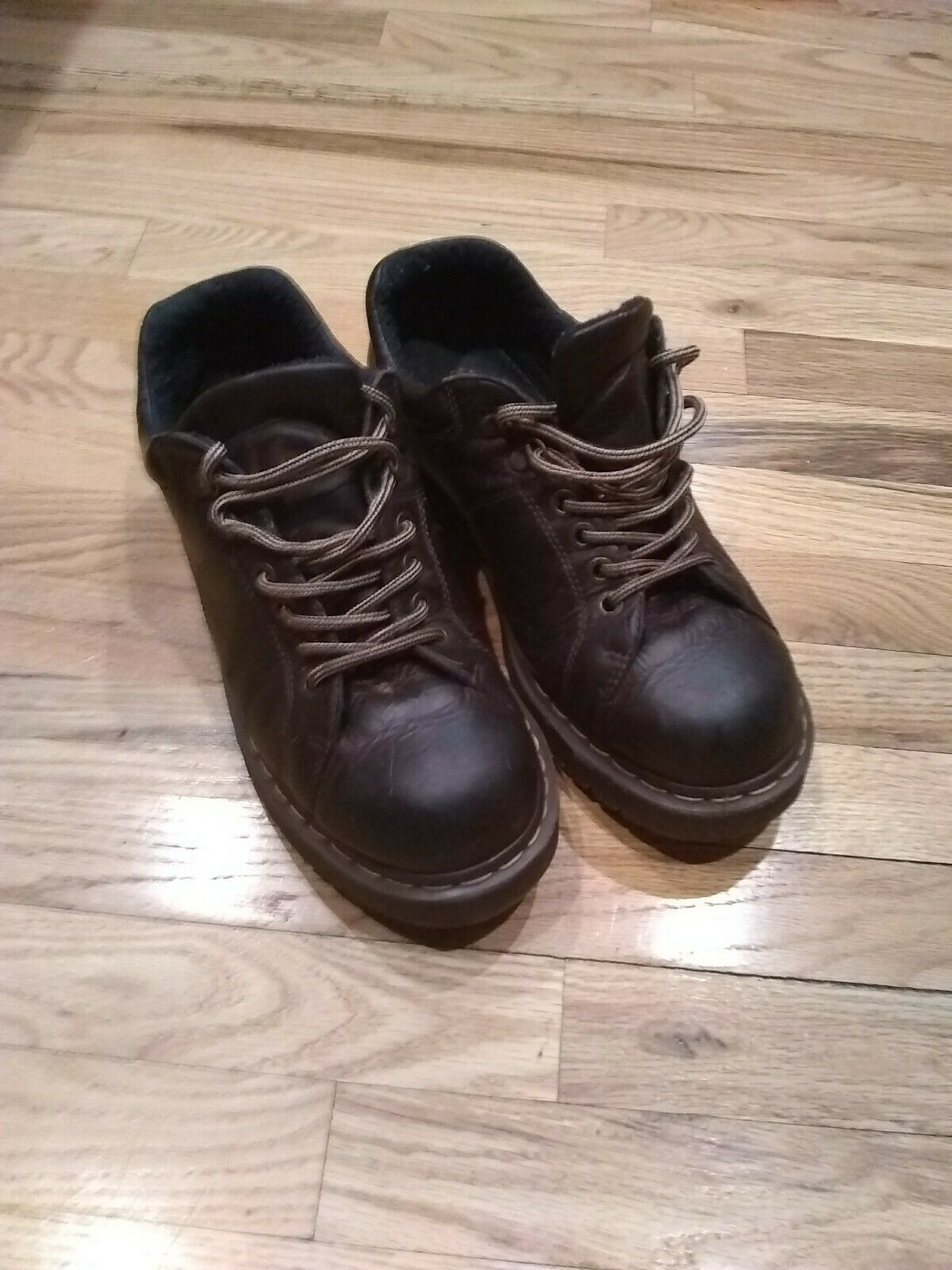 Dr Doc Martens Ankle Boots Mens US Size 13 Brown Leather