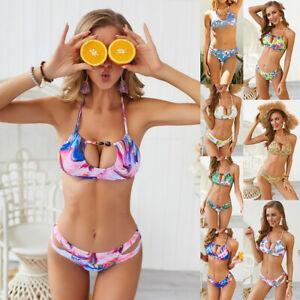 Women Push-up Soft Bra Bandage Bikini Set Swimsuit Triangle Swimwear Bathing