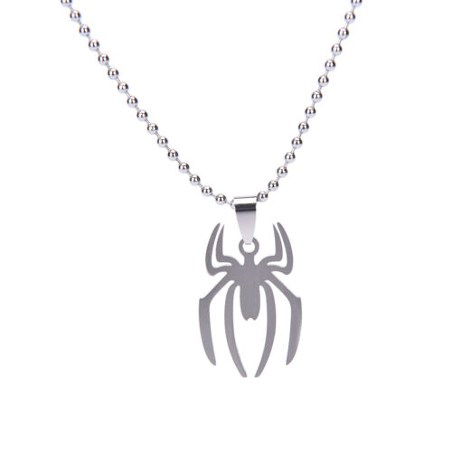 Marvel Super Heroes Edelstahl Spinne Silber Mode Anhänger Halskette SA
