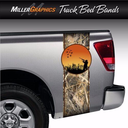Duck Hunter Tall Grass Camo Truck Bed Band Stripe Decal Graphic Sticker Kit
