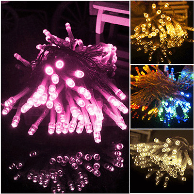 10M 100 led Party Wedding Xmas light lamp Fairy LED Lights String US Seller