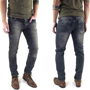 Neu-Herren-Designer-Slim-Skinny-Fit-Roehren-Jeans-Hose-Super-Stretch-W28-L30