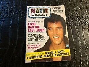 NOV 1972 MOVIE DIGEST digest magazine (F3-BX6) ELVIS