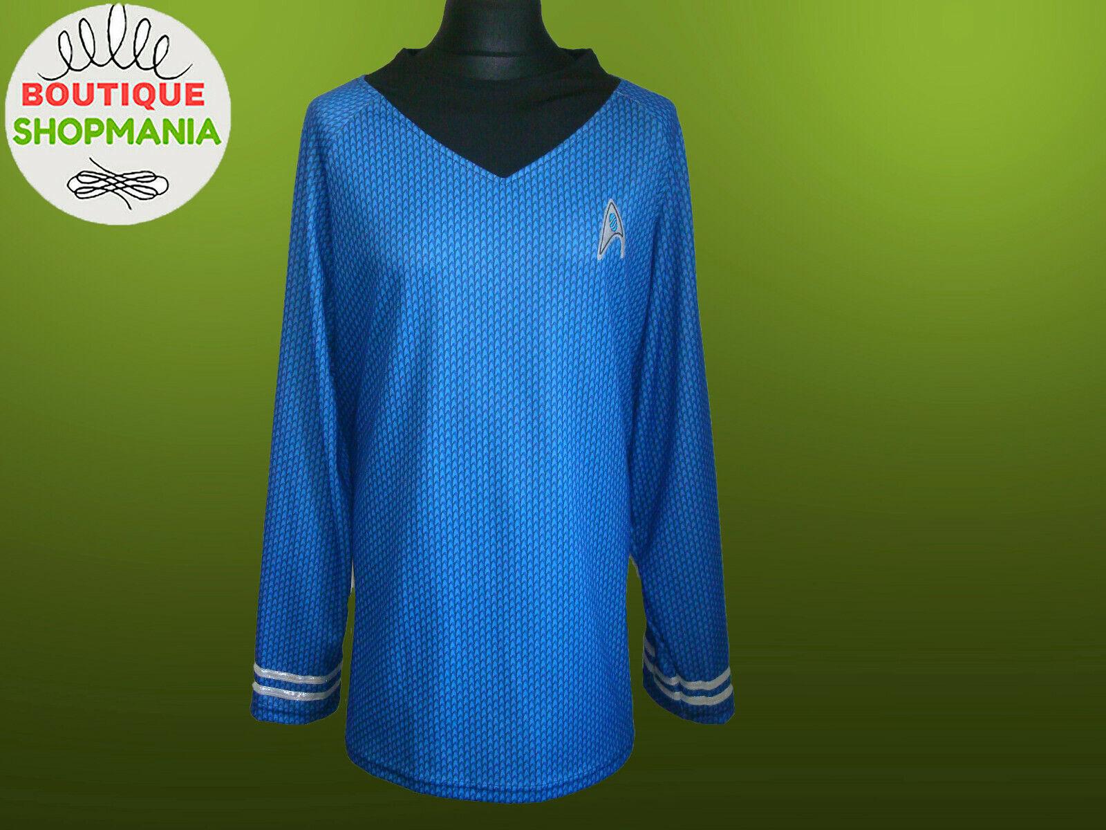 STAR TREK Costume OFFICER SPOCK Rubies XL 46-52 Long Sleeve SHIRT Blue Cosplay