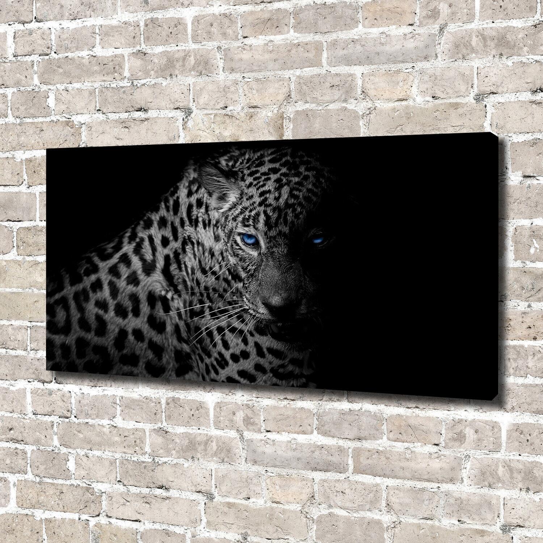 Leinwandbild Kunst-Druck 140x70 Bilder Tiere Leopard