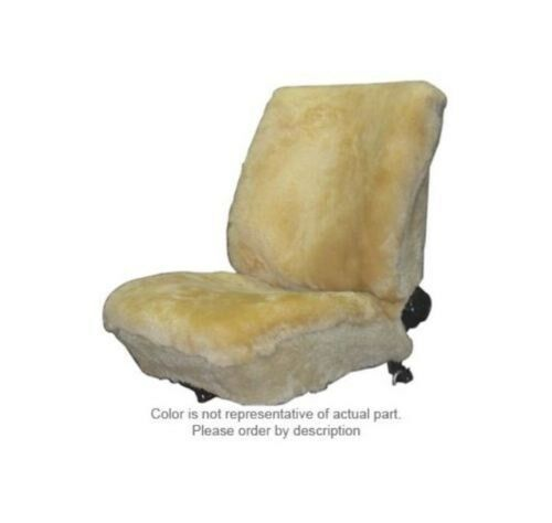 Grey Color Pair Deluxe Plush Universal Low Back Bucket Seat Cover Sheepskin LT