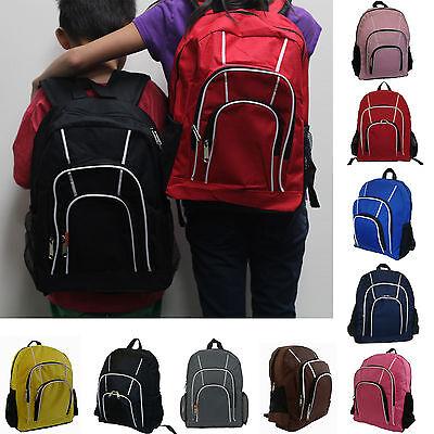 Kids Teen Girls Boys Backpack Student Book School Bag Travel Red Black Color