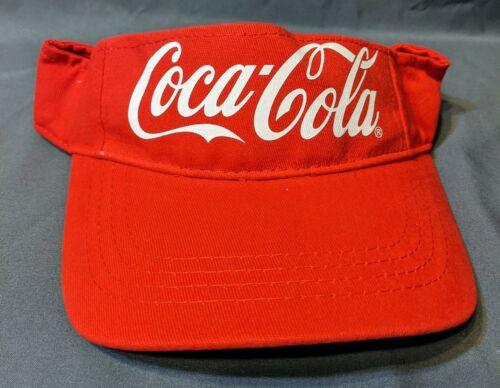 NEW Coca Cola Red Adjustable Hook-And-Loop Visor Hat
