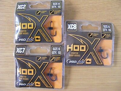 Prologic XC2 carp fishing hooks barbed or barbless all sizes