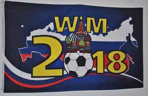 FAHNE 3772 FUSSBALL WELTMEISTERSCH<wbr/>AFT 2018  RUSSLAND FLAGGE 90 x 150cm WM 2018