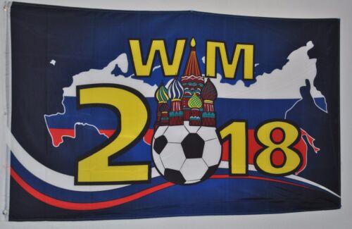 FAHNE 3772 FUSSBALL WELTMEISTERSCHAFT 2018  RUSSLAND FLAGGE 90 x 150cm WM 2018