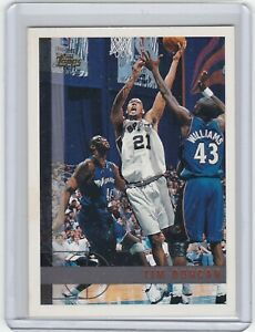 1997-98-Topps-115-Tim-Duncan-RC-Rookie-Card-San-Antonio-Spurs-HOF