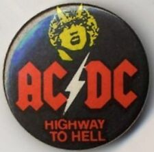 AC/DC 'Highway To Hell' Badge Button #2BASEDBASED