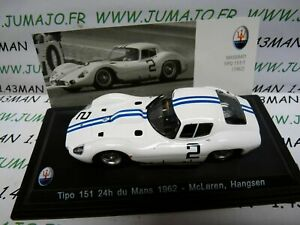 MAS43S-voiture-1-43-LEO-models-MASERATI-TIPO-151-24-heures-Du-Mans-1962-McLaren