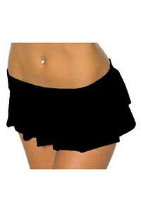Sexy-Black-Fancy-Dress-School-Girl-Micro-Mini-Skirt-8-10-12
