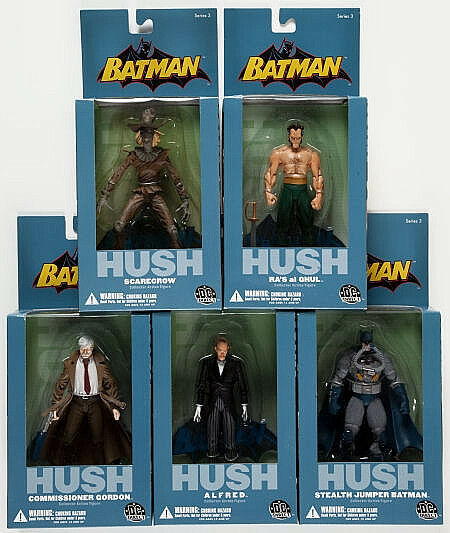 DC Direct_HUSH Series 3 figures_ALFRED_GORDON_RA'S_SCARECROW_StealthJumperBATMAN