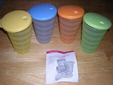 Tupperware Impressions Tumblers  Spring colors NEW NLA SALE NOW Auction in store