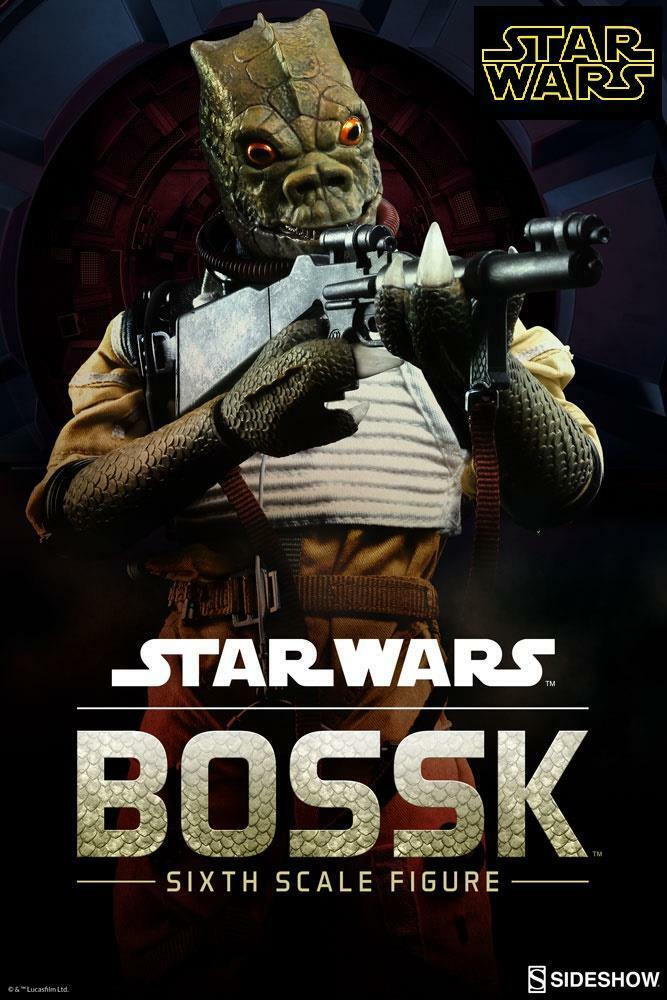 Star Wars Bossk 12  Sideshow 1/6th Scale Figure *