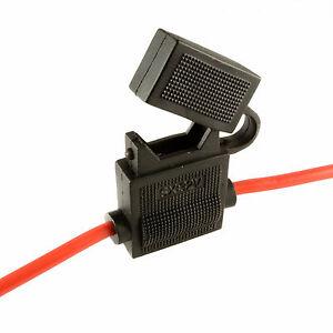 2-X-In-Line-Standard-Blade-Fuse-Halter-Spritzwassergeschuetzt-fuer-12v-30a-Sicherungen-Auto-Motorrad