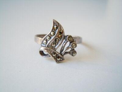 Fine Rings Expressive Schöner 925 Sterling Silber Ring Mit Markasiten 2,5 G/gr 57/breite:1,5 Cm Modern Techniques