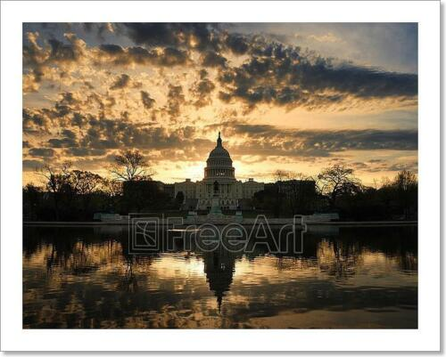 Art Print Home Decor Wall Art Poster G Capitol Hill Building In The Morning