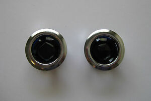 GLASS-BLUE-DOTS-FOR-TAIL-LIGHT-LENSES-WITH-CHROME-RING-CHEV-FORD-HOTROD-RATROD